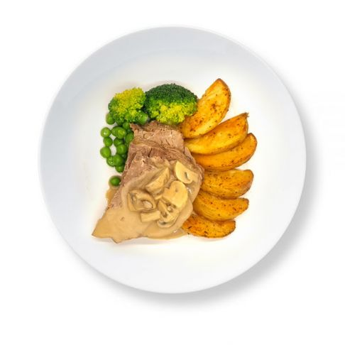 Steak & Chips with Mushroom Gravy