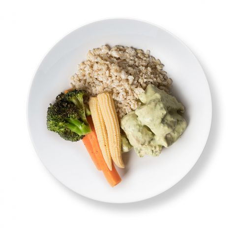 Thai Green Curry Chicken Coconut Brown Rice