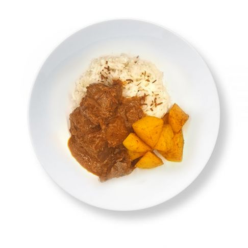 Beef Rendang with Coconut Rice